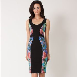 Annabelle Colorblock Abstract Center Midi Dress 2